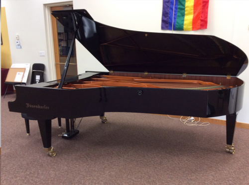 "Bosendorfer Imperial Concert Grand Piano 9'6"" Sideview"